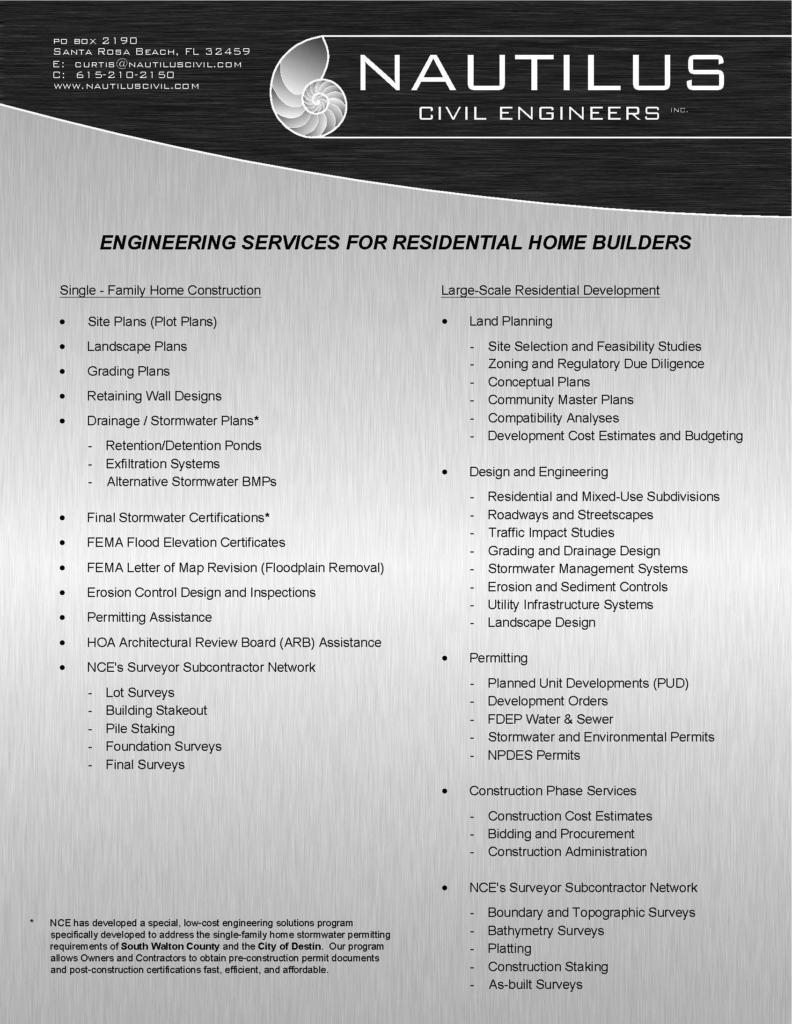 Engineering for Residential Home Builders – Nautilus Civil Engineers
